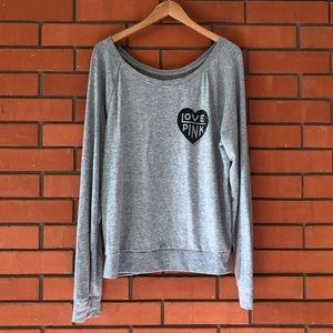 VICTORIA'S SECRET Gray Long Sleeve Sweater Top